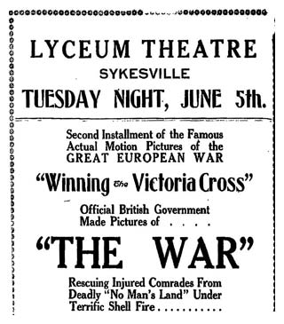 Lyceum Theatre presents the war