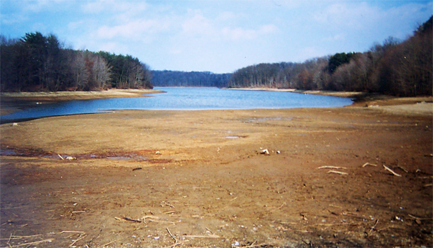 Depleted Piney Run Lake in Carroll County, MD ca. 1999